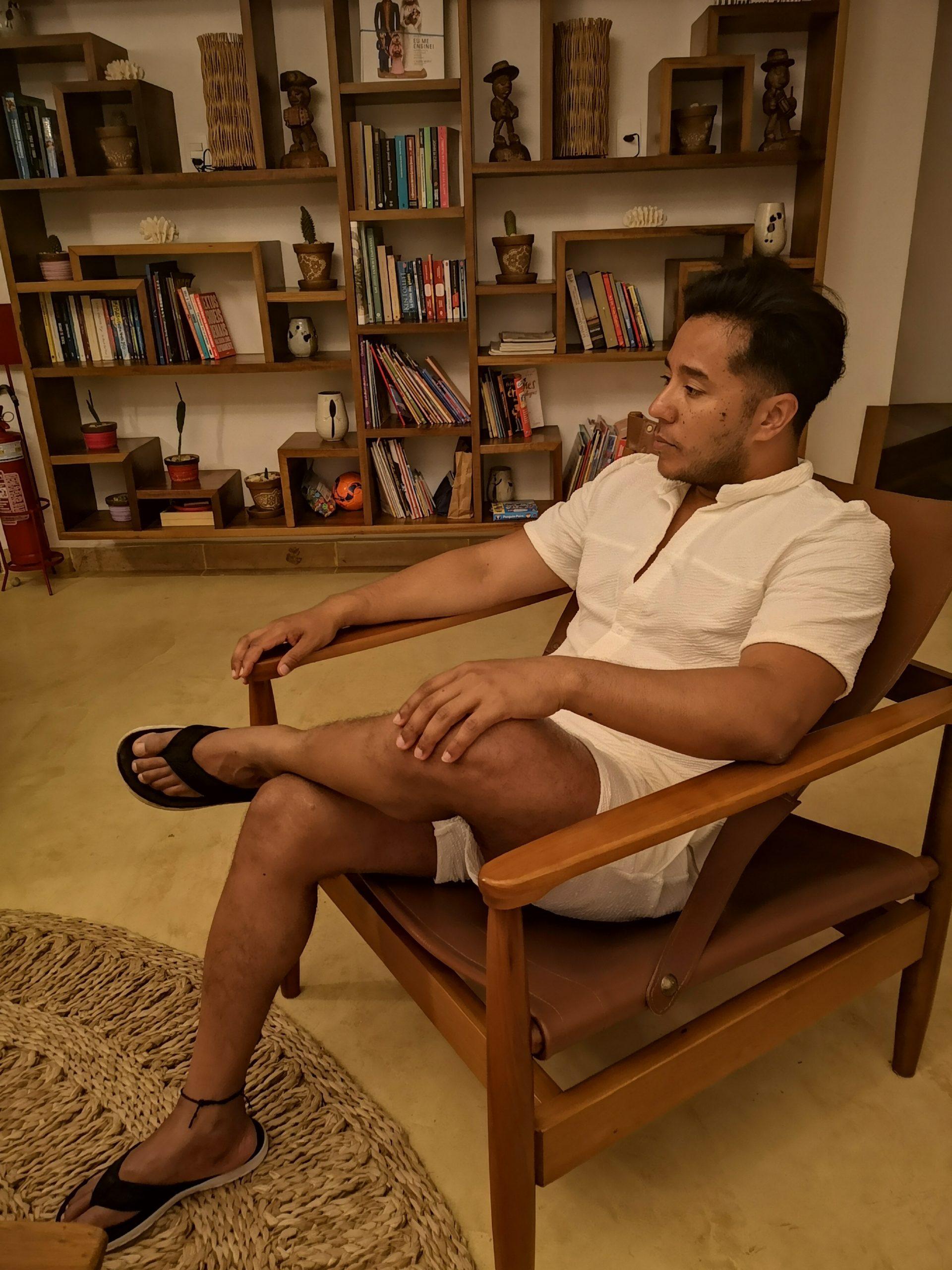 aynovo white set blouse and shorts 1