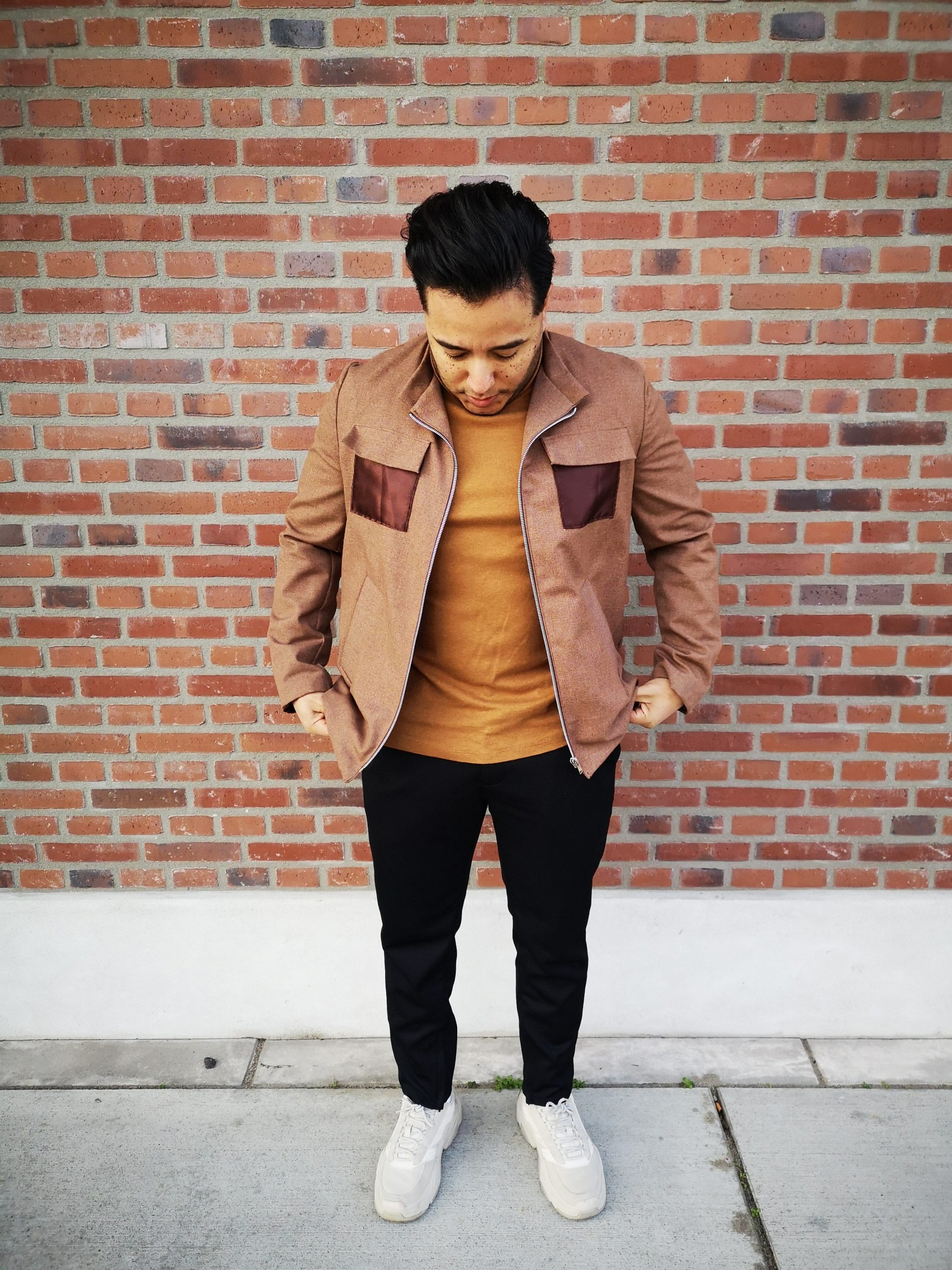 aynovo brown jacket satin 1